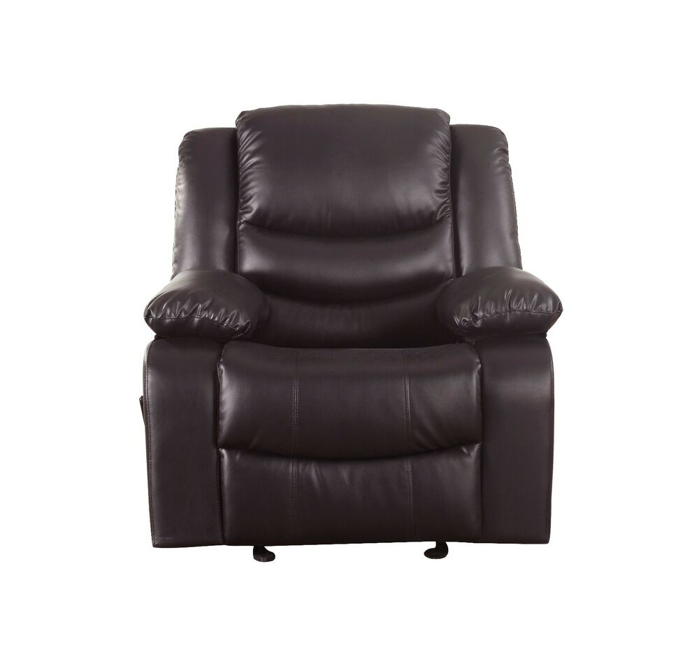Reclining And Rocking Plush Over Stuffed Brown Bonded