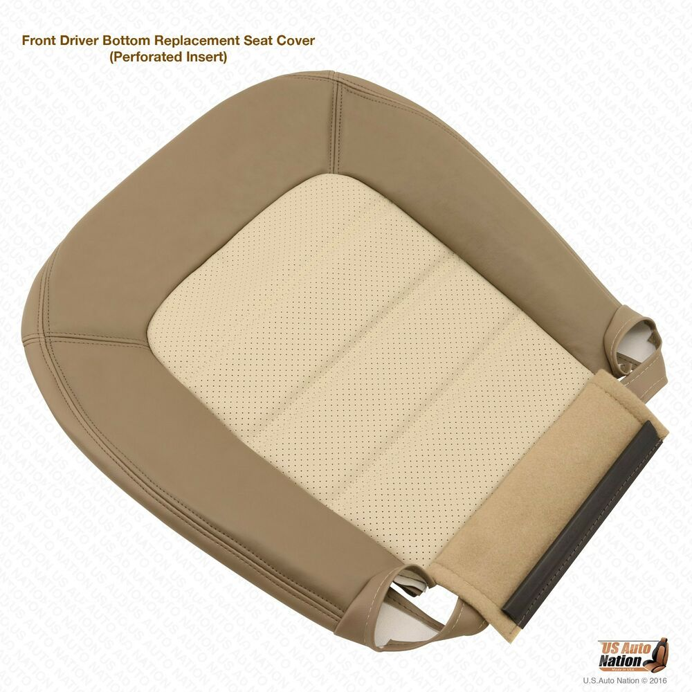 2003 2004 2005 ford explorer eddie bauer driver bottom leather seat cover in tan ebay. Black Bedroom Furniture Sets. Home Design Ideas
