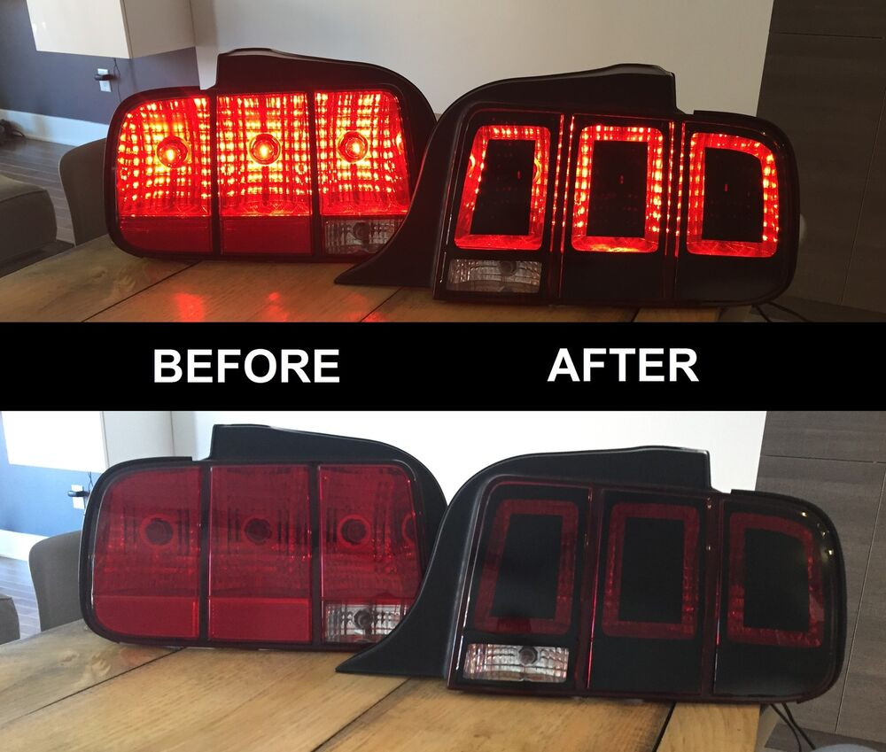 2005 2009 mustang tail light conversion 2013 style. Black Bedroom Furniture Sets. Home Design Ideas