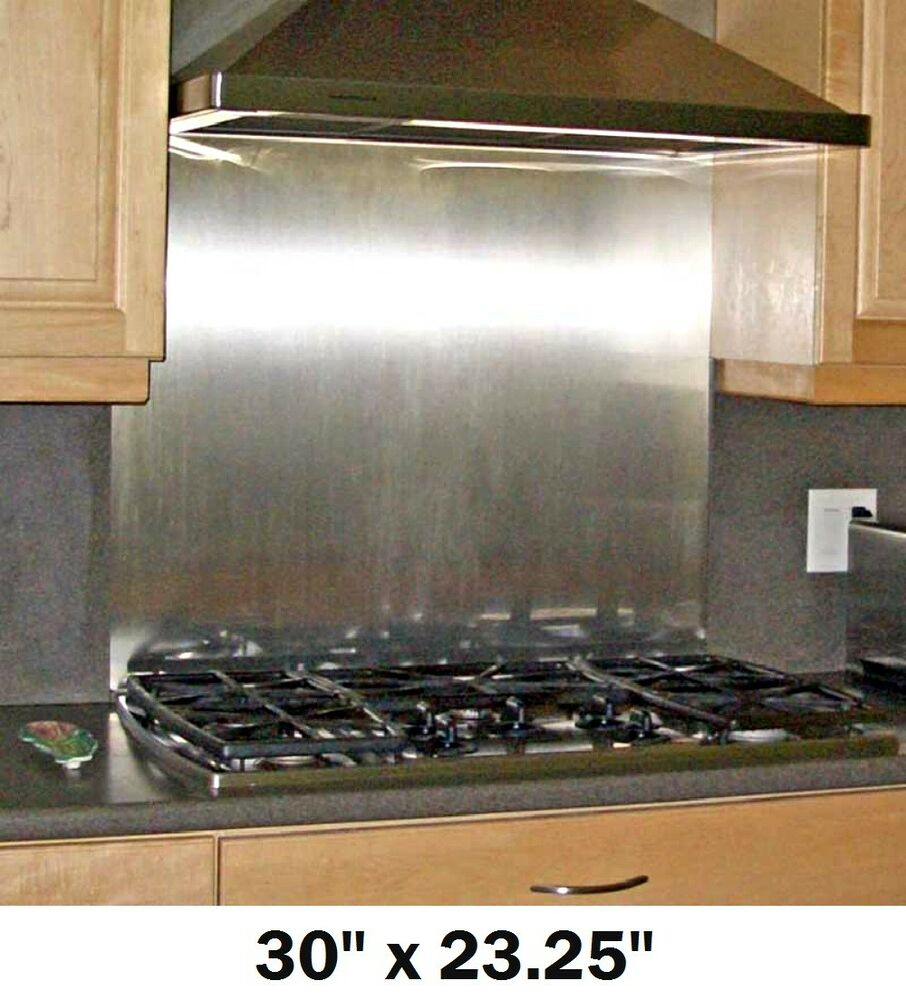 stainless steel kitchen backsplash panels backsplash w hemmed edges stainless steel kitchen wall tile stove range 30x23 25 ebay 7345