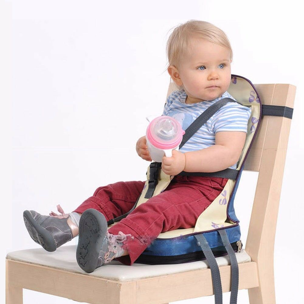 Infant kids portable belt seat 4 straps high chair safety for Toddler sitting chair