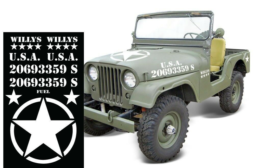 Set Army Sticker For Jeep Tj Fj Wrangler Rubicon Usmc