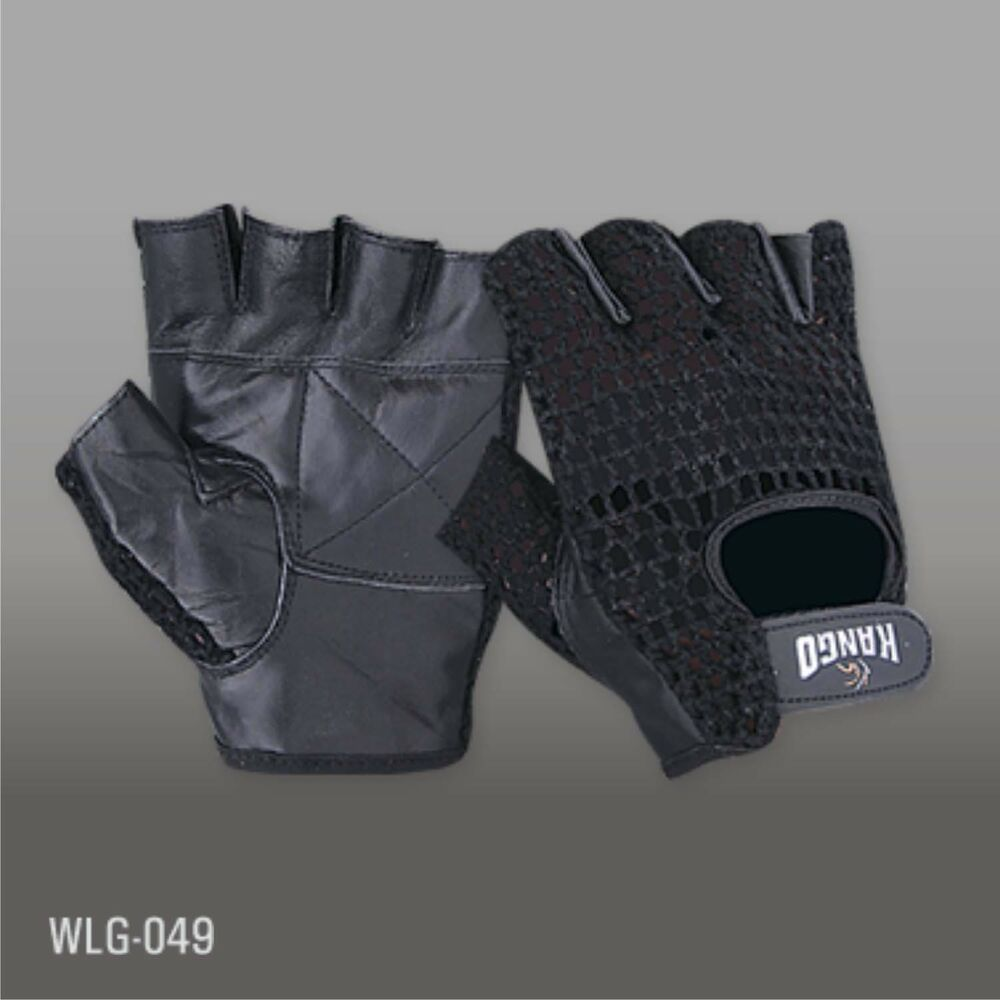 Mesh Weight Lifting Gloves: NEW* LEATHER FINGERLESS GEL COTTON MESH WEIGHT LIFTING