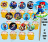 Super Mario Bros Video Game Double-sided Images Cupcake Picks Cake Topper -12 pc