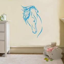 NOBLE HORSE Decal WALL STICKER Art Home Decor Any Color Stencil Animals SST011