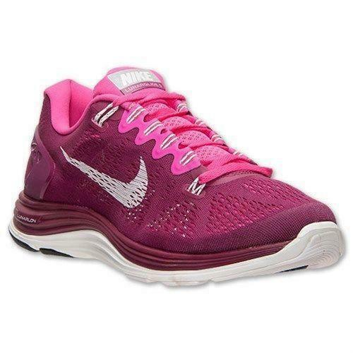6b3e2253367f Details about Womens NIKE LunarGlide +5 Raspberry Running Trainers 599395  616