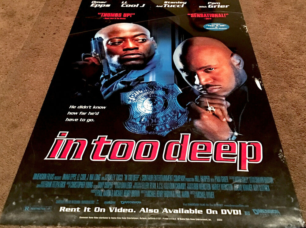Movie Posters 1999: In Too Deep Movie Poster Omar Epps, LL Cool J Video Promo