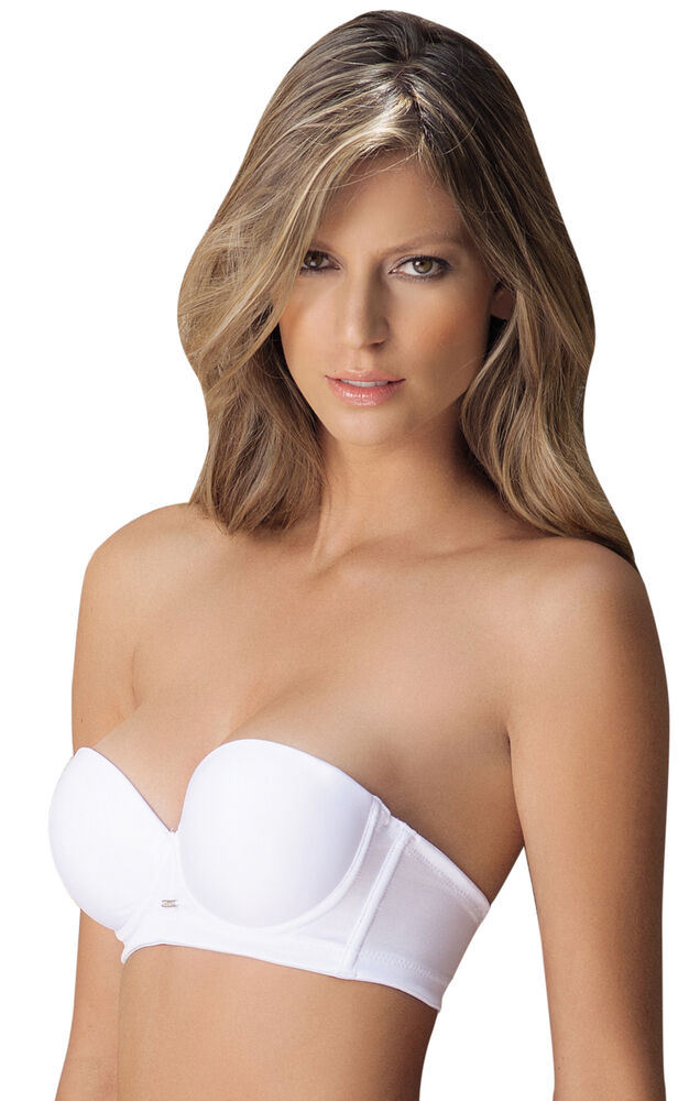 Laura White Strapless Non-slip Band High Quality Bra # ...