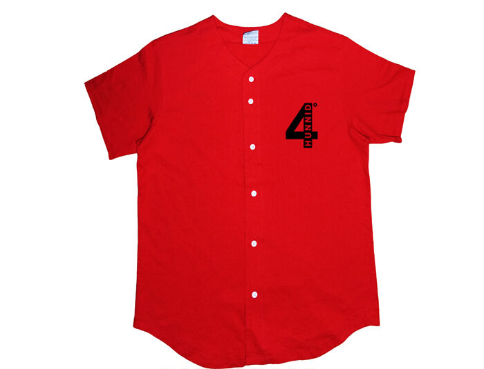 Yg baseball jersey shirt 4 hunnid westcoast mac miller for Wiz khalifa button down shirt
