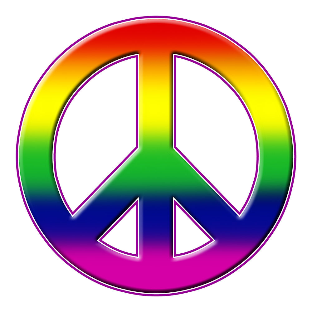 Wallpaper Of Peace: GAY PEACE SIGN RAINBOW SIZE 230MM BY 230MM APR GLOSS