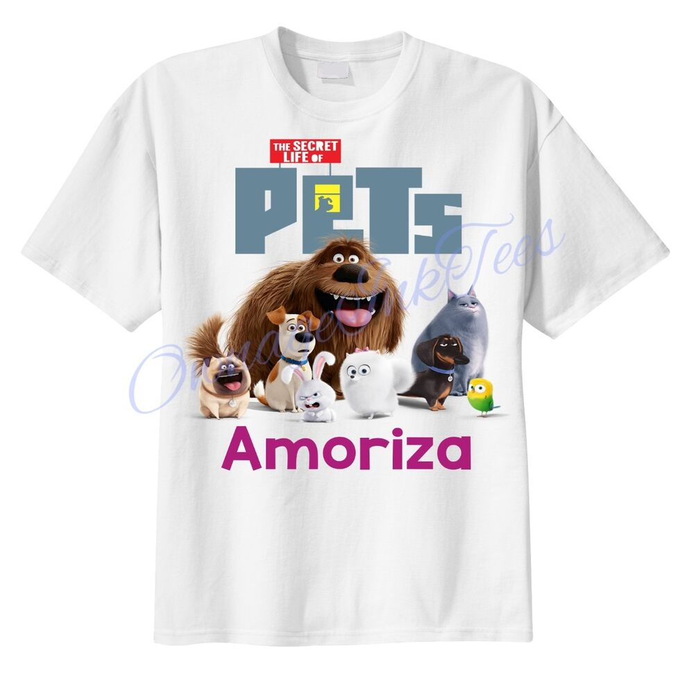 Secret life of pets group custom t shirt personalize for Custom pet t shirts