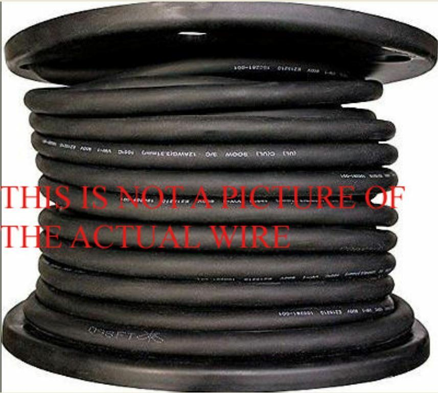 New 125 10 3 Soow So Soo Black Rubber Cord Extension Wire