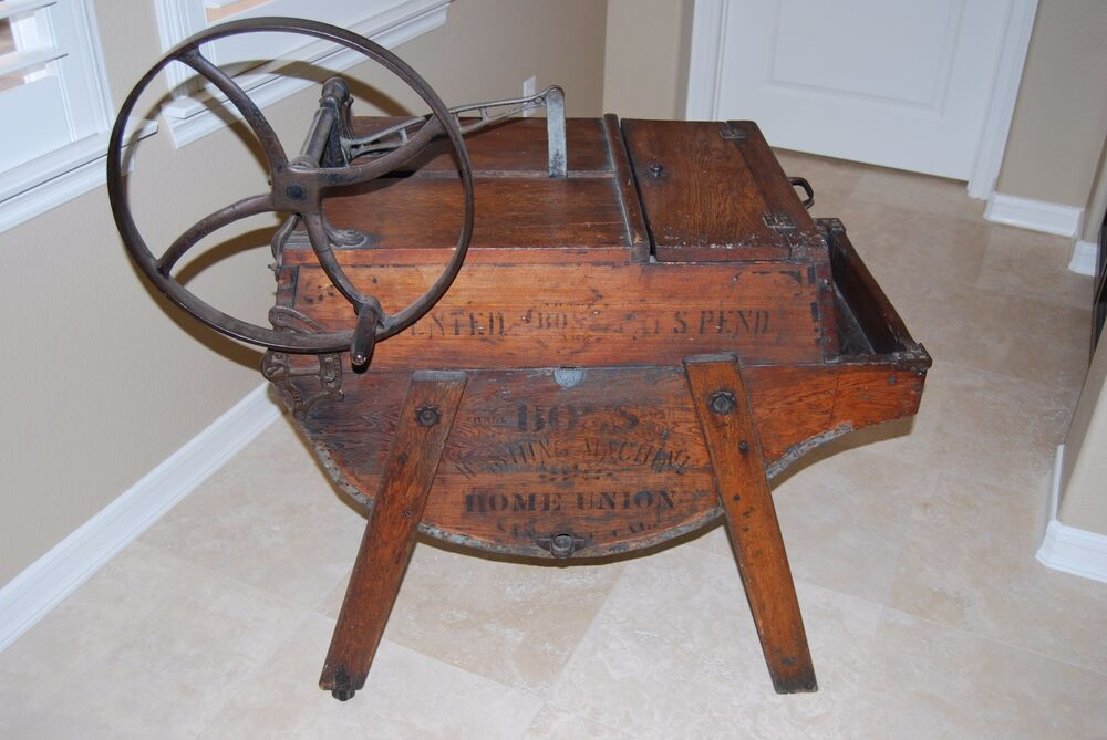 antique the boss washing machine co number 1 wooden washing machine ebay. Black Bedroom Furniture Sets. Home Design Ideas