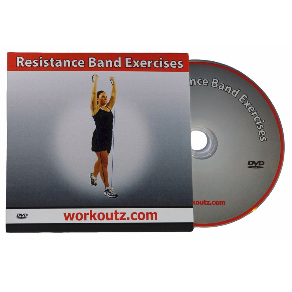 WORKOUTZ RESISTANCE BAND EXERCISE DVD VIDEO GUIDE FOR