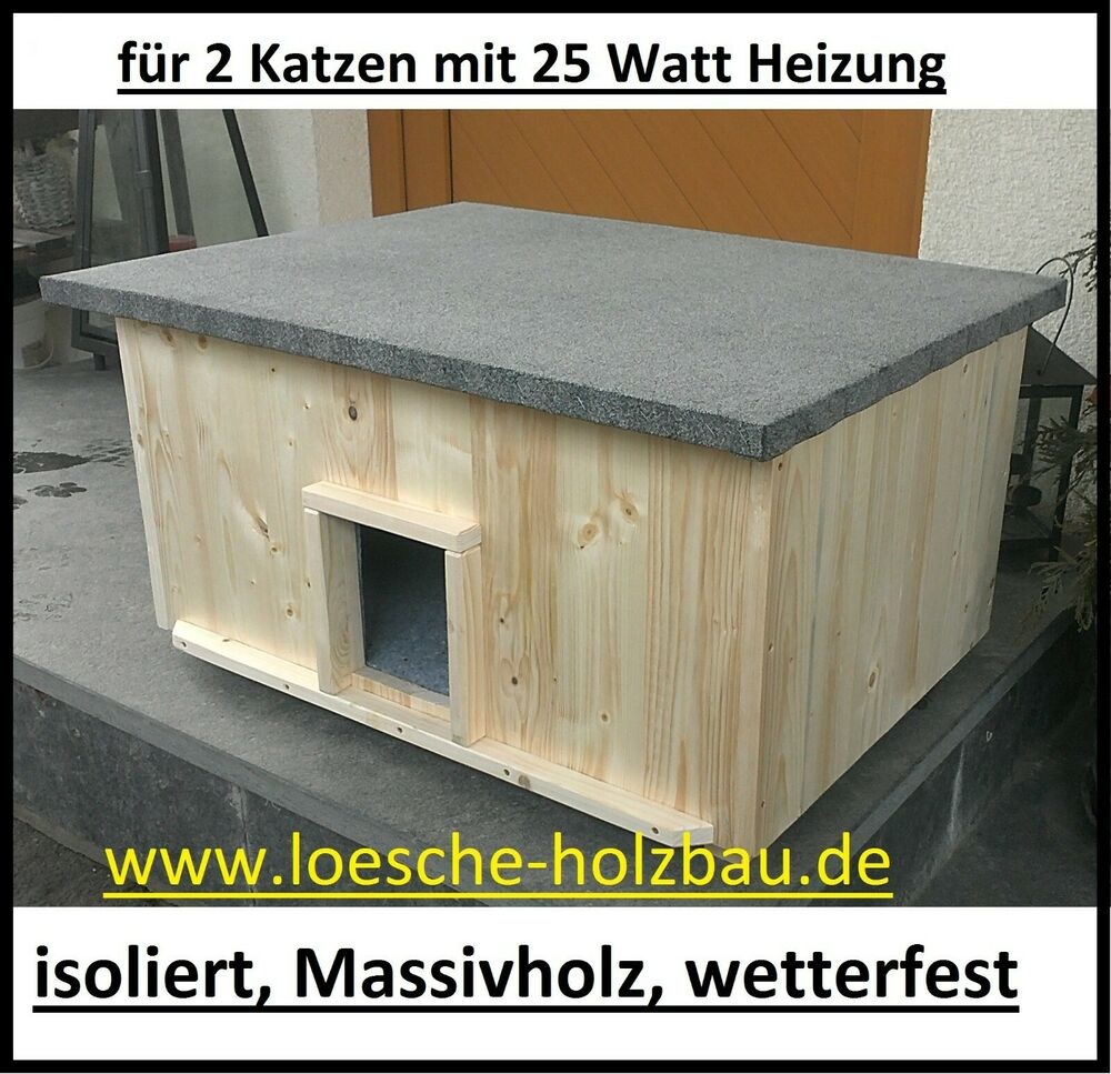 katzenhaus gro 2 katzen mit 2 heizungen katzenh tte wurfkiste isoliert heizung ebay. Black Bedroom Furniture Sets. Home Design Ideas