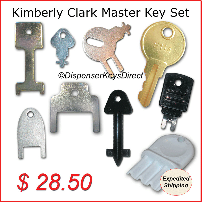 Kimberly Clark Master Key Set For Paper Towel Toilet