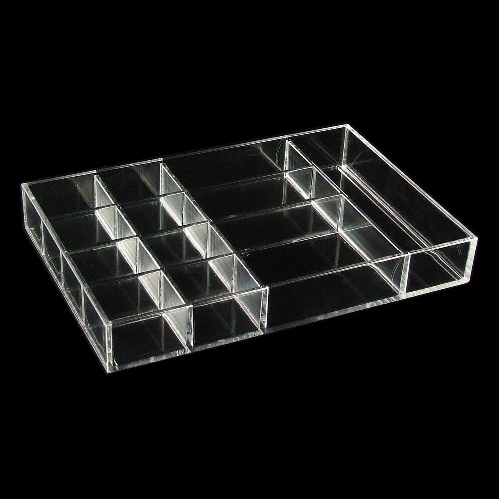 kosmetik box organizer ablage aufbewahrung kleinteile 12 f cher acryl ac167 ebay. Black Bedroom Furniture Sets. Home Design Ideas
