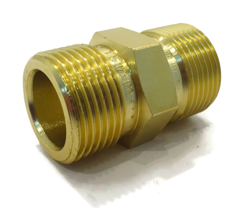 M22 male to male adapter coupler for power pressure washer water pump hose al 692754122857 ebay for Male to male garden hose adapter