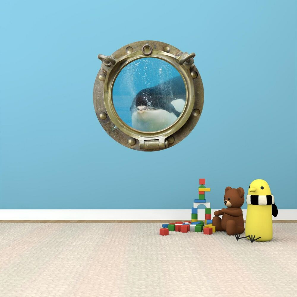 From the window to the wall whale - 24 Porthole Sea Window Killer Whale 2 Bronze Wall Decal Sticker Art Graphic Ebay