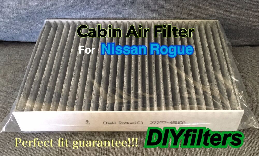 fits 2014 2016 rogue carbonized ac cabin air filter ebay. Black Bedroom Furniture Sets. Home Design Ideas