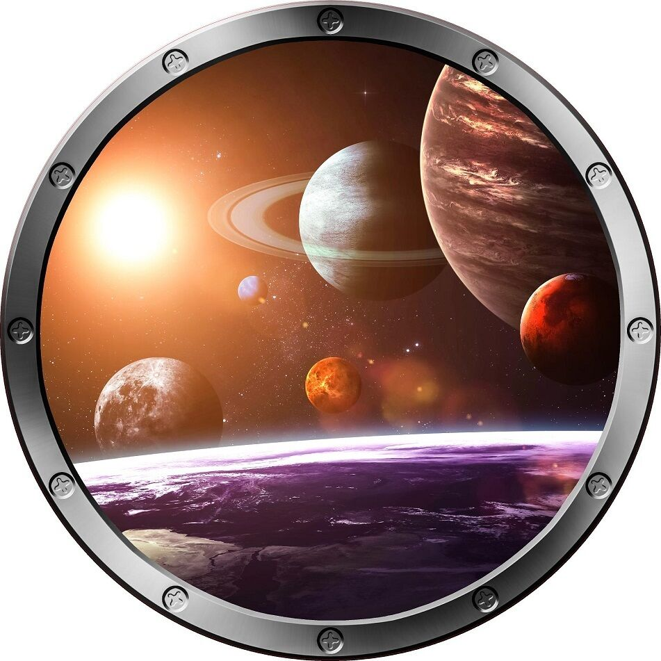 12 Quot Porthole Space Ship Window Solar System 1 Round Wall