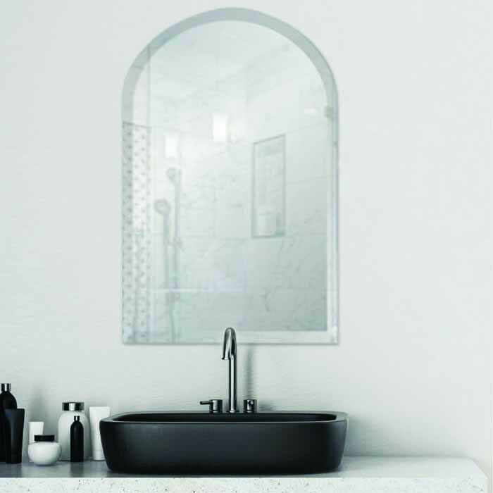 Arch frameless bevel edge contemporary decorative wall for Contemporary wall mirrors