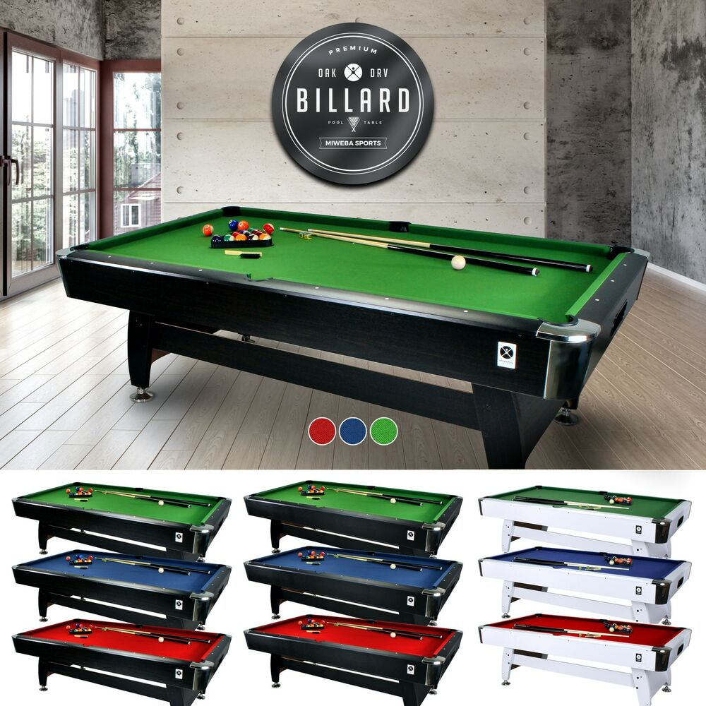 Miweba billardtisch 7 ft billard billiardtisch poolbillard for Pool holzdekor