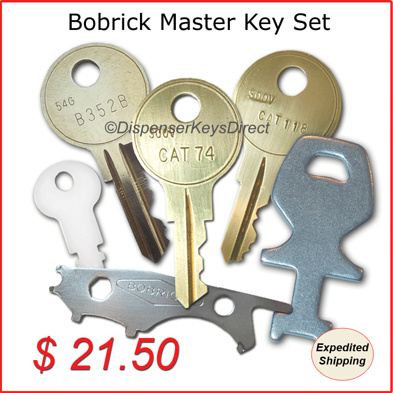 Bobrick Master Dispenser Key Set For Paper Towel Toilet