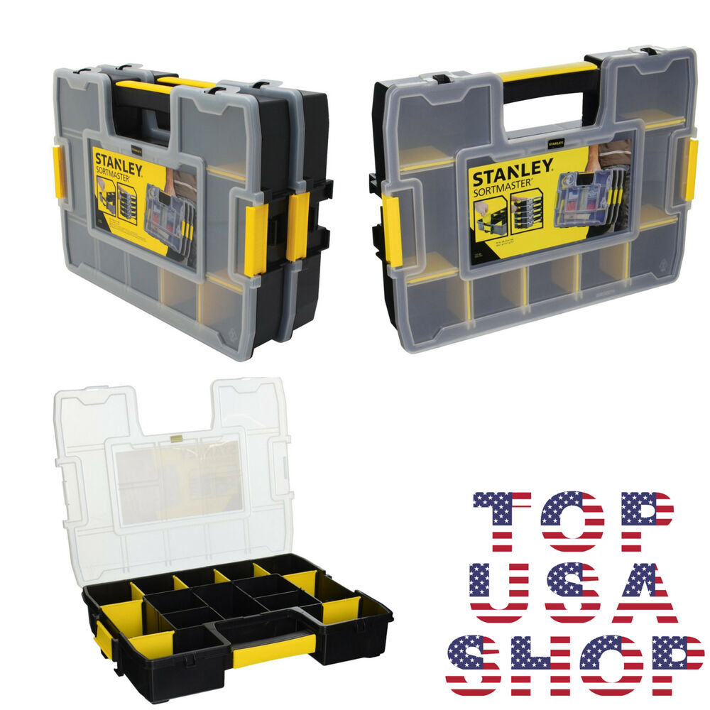 Portable Garage Parts : Tool box organizer portable small parts stanley chest