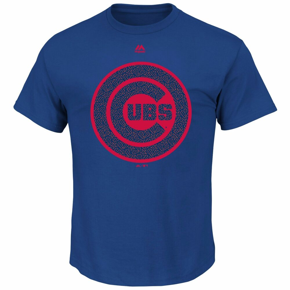 60409c574ab5b Details about Chicago Cubs Stars and Stripes July 4th Tee Shirt - Blue