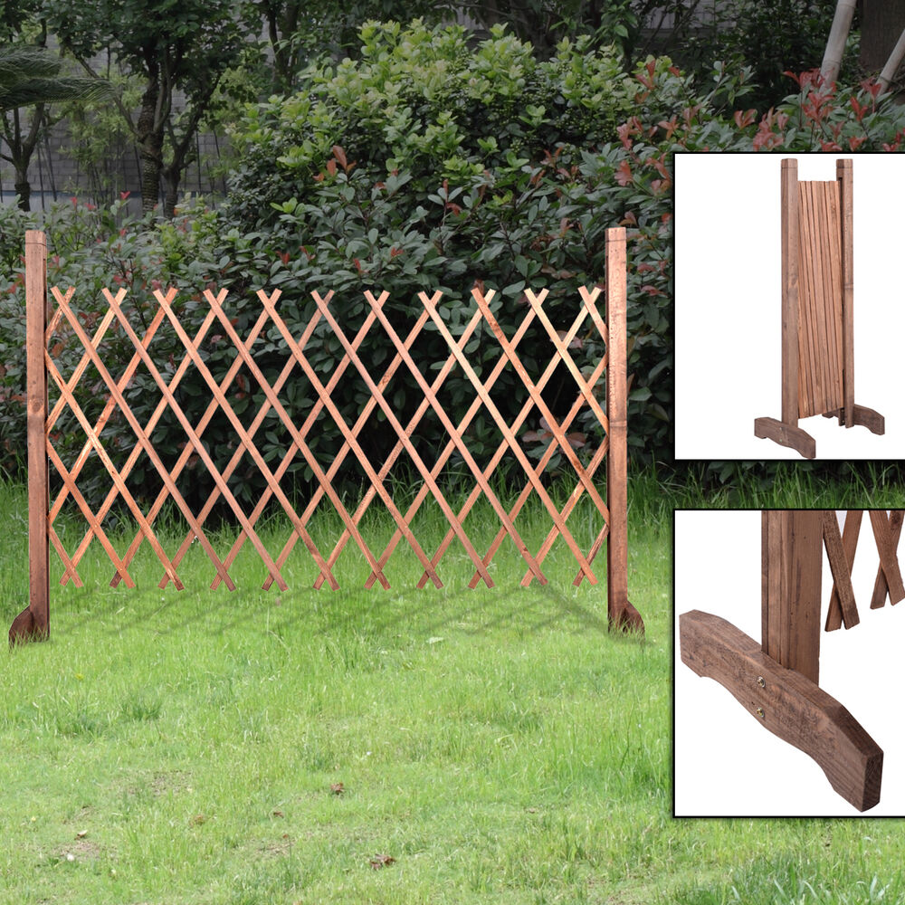 Expanding Portable Wooden Fence Screen Gate Kid Safety Dog