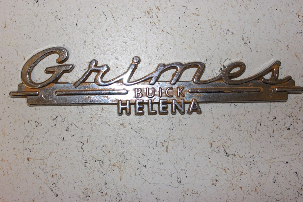 grimes buick helena metal dealer emblem decal script