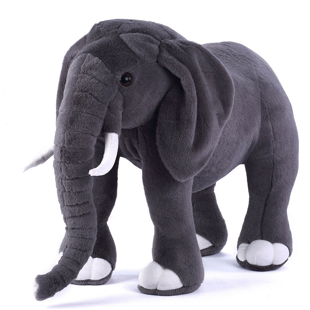 giant plush simulation elephant toy 75cm kid soft stuffed doll new fancytrader ebay. Black Bedroom Furniture Sets. Home Design Ideas