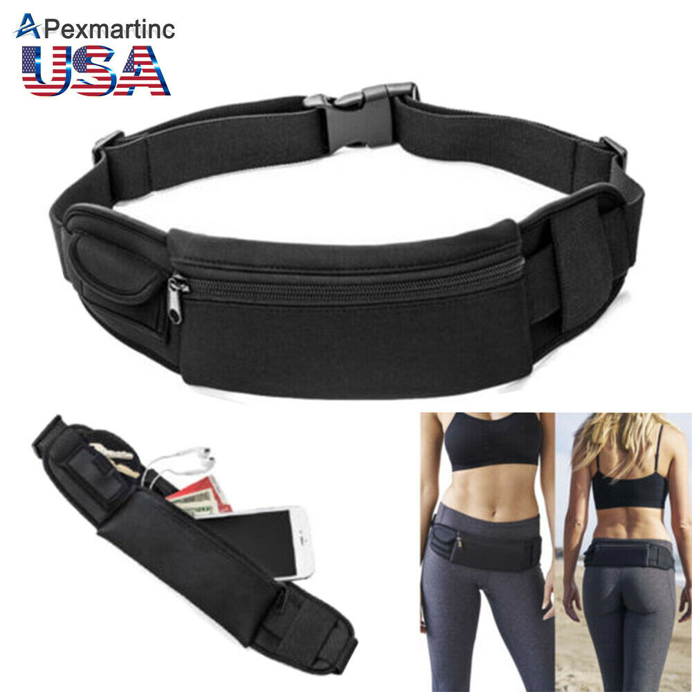 Waterproof Waist Belt Zip Pouch Pack Pocket Bag Outdoor Sport Gym Running iPhone | eBay