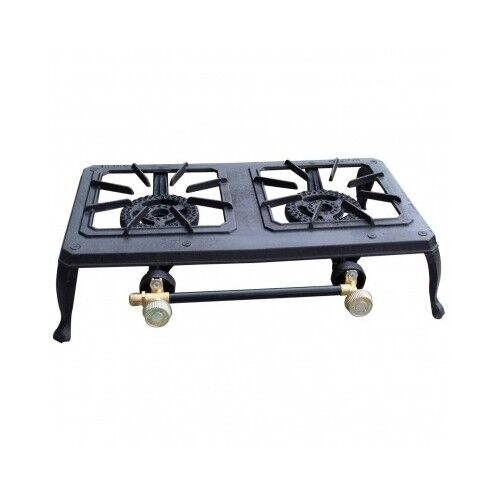 3 Burner Camp Stoves: Dual Burner Propane Camping Stove 2 Cast Iron Outdoor