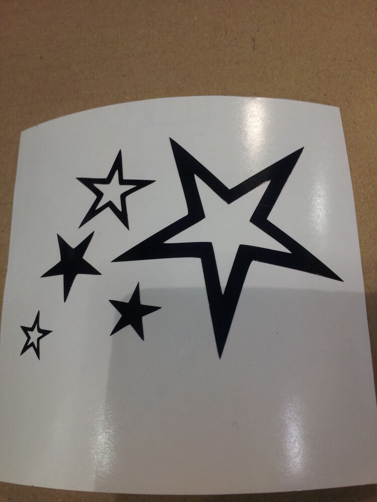 sticker autocollant etoiles stars stickers voiture tuning parebrise signaletique ebay. Black Bedroom Furniture Sets. Home Design Ideas