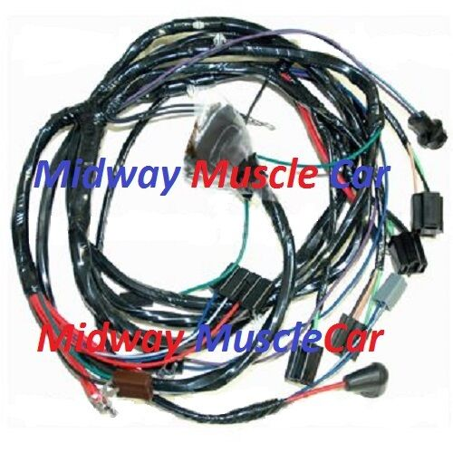 front end headlight headlamp wiring harness 66 chevy