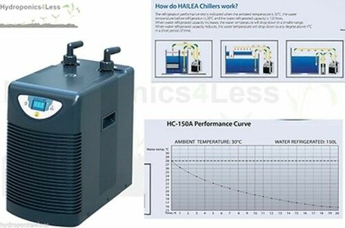 Hailea nutrient chiller water hydroponics fish pond marine for Fish tank water cooler