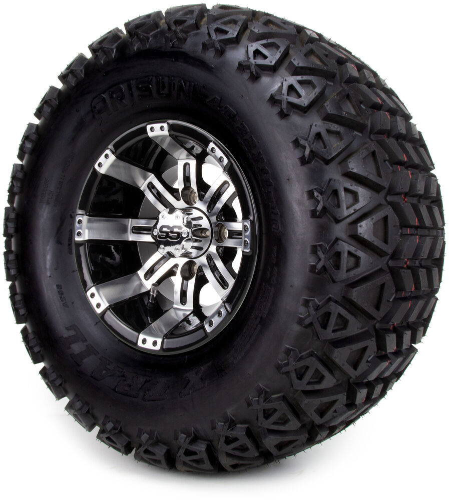 "Golf Cart Wheels and Tires Combo - 10"" Tempest Machine ..."