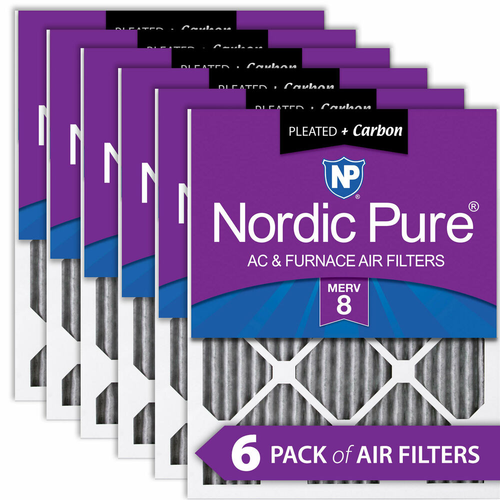 Nordic Pure 20x20x1 Pleated Air Filters Merv 8 Pleated