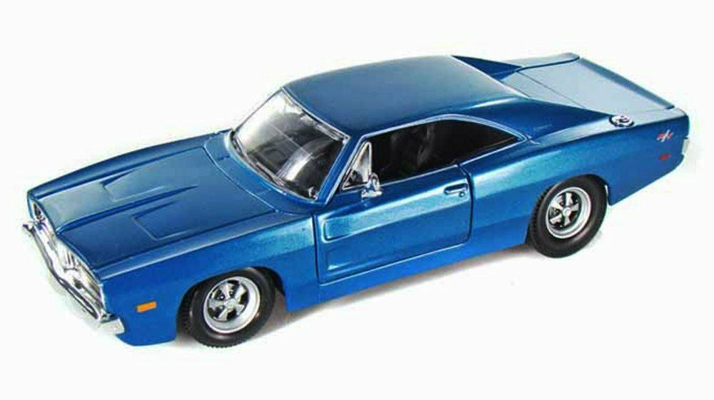 Dodge Challenger Hellcat Blue >> 1969 Dodge Charger R/T Hard Top Blue Maisto 31256 1/24 Scale Diecast Car | eBay