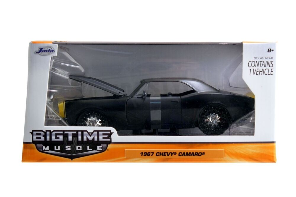 JADA 1:24 DISPLAY BIG TIME MUSCLE 1967 CHEVROLET CAMARO Diecast Car Red 97171