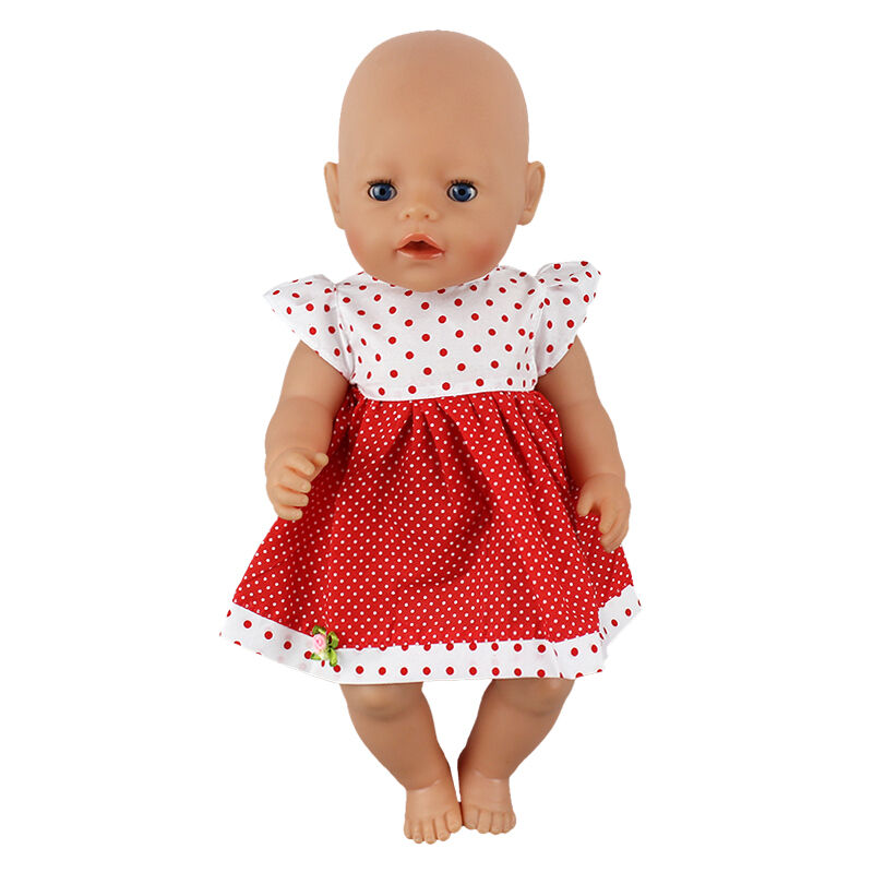 Red dot dress Doll Clothes Wearfor 43cm Baby Born zapf