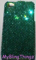 12ss GREEN Crystal Bling Back Case for AT&T iPhone 4G made w/ Swarovski Elements