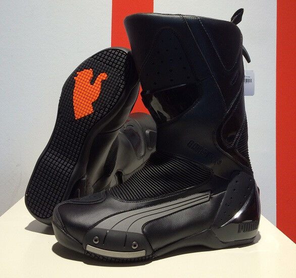 PUMA 500 GTX (Desmo) sport motorcycle boots, all black ...