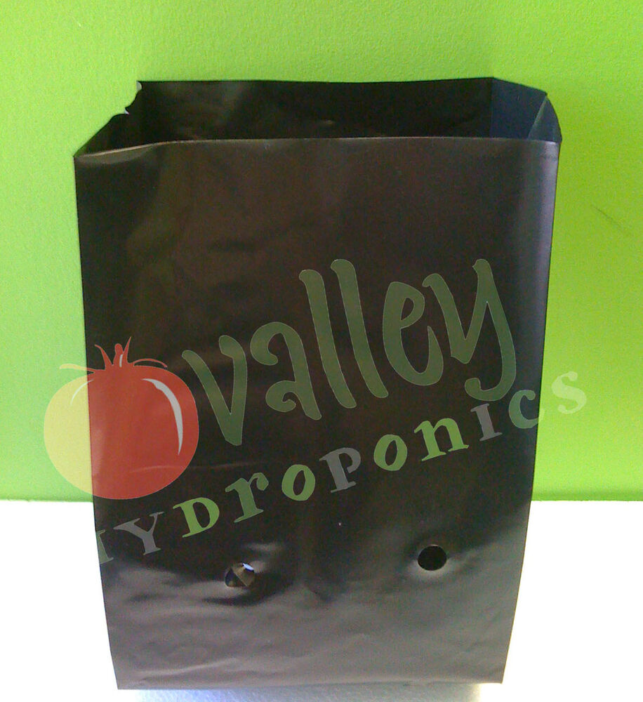 5 Gal Black Grow Bags Hydroponics Soil Garden Planters