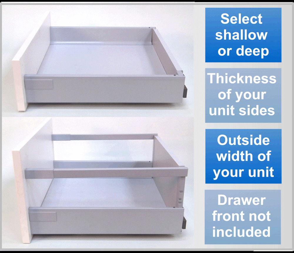 Kitchen Cabinet Drawer Replacement: Replacement Kitchen Drawers. SOFT CLOSE Drawer Box Kit