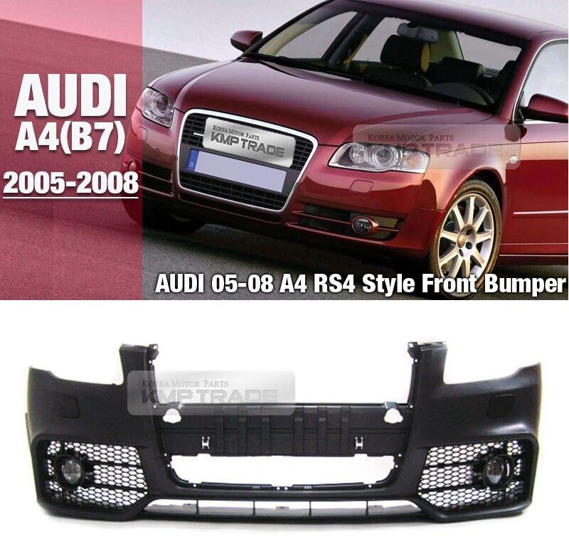 RS4 Style Front Bumper Cover Lower Mash Body Kit For AUDI