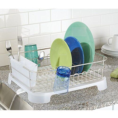 kitchenaid dish drainer drying rack stainless steel dishes kitchen organizer new ebay. Black Bedroom Furniture Sets. Home Design Ideas