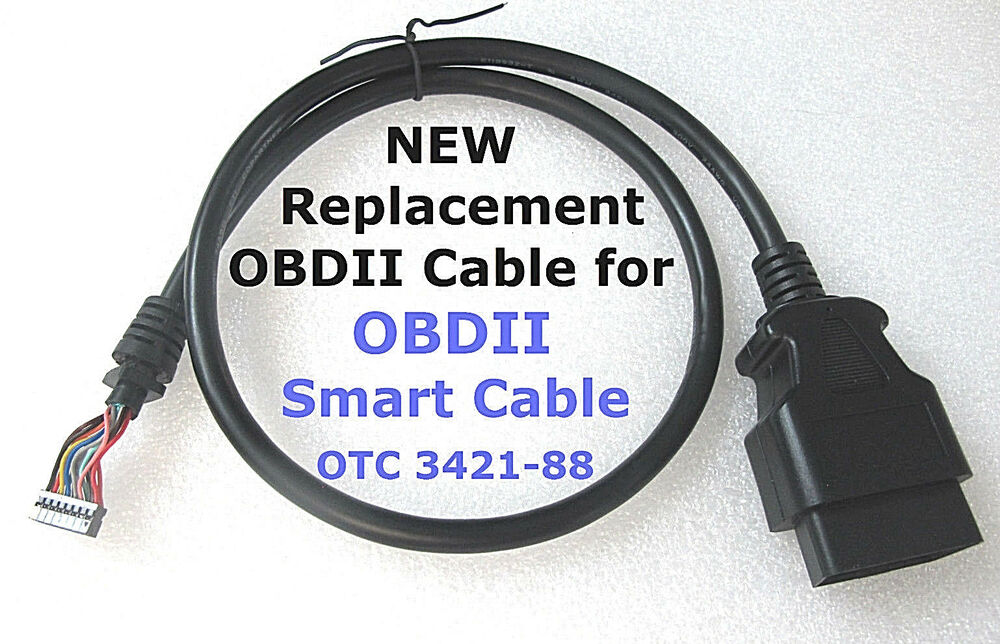 Obdii Cable Replacement For Otc 3421 88 Smart Cable